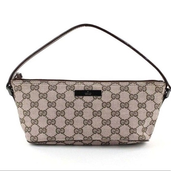 05d021b1fe82 Gucci Bags | Authentic Monogram Canvas Pochette Handbag | Poshmark